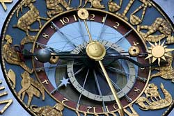 Astrology clock