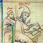 Plato and Socrates, medieval depiction